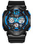cheap Sport Watches-SMAEL Men's Sport Watch Wrist Watch Digital 50 m Hot Sale PU Band Analog-Digital Charm Fashion Black - Black / Green Black / Blue Black / Gray