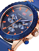 cheap Sport Watches-Men's Sport Watch Military Watch Wrist Watch Quartz Genuine Leather Band Material Black / Blue 30 m Creative Casual Watch Cool Analog Charm Luxury Casual Fashion Elegant - Black Blue Two Years