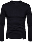 cheap Men's Tees & Tank Tops-Men's Street chic T-shirt - Solid Colored Round Neck