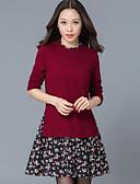 povoljno Ženske haljine-Žene Veći konfekcijski brojevi Swing kroj Haljina - Print