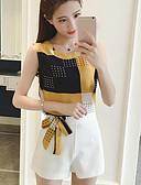 povoljno Ženski dvodijelni kostimi-Žene Aktivan Izlasci Majica s rukavima - Color block Hlače / Ljeto