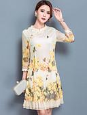 cheap Women's Dresses-Women's Going out Chinoiserie Slim Skater Dress - Floral Print