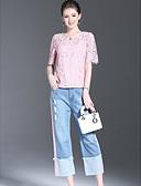 זול טישרט-מכנס אחיד - חולצה כותנה ליציאה בגדי ריקוד נשים