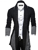 cheap Men's Sweaters & Cardigans-Men's Weekend Slim Long Cardigan - Color Block Shirt Collar