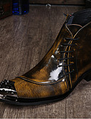 olcso Sportos óra-Férfi Formális cipők Nappa Leather Ősz / Tél Cowboy / Western csizmák / Divatos csizmák / Motoros csizmák Csizmák Bokacsizmák Fekete / Szürke / Világosbarna / Formai cipő / Party és Estélyi
