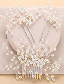 cheap Wedding Dresses-Imitation Pearl Hair Combs / Headwear with Floral 1pc Wedding / Special Occasion / Anniversary Headpiece