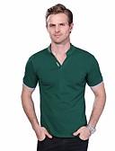 olcso Férfi pólók-Állógallér Férfi Extra méret Pamut Polo - Egyszínű