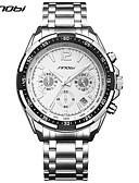 cheap Luxury Watches-SINOBI Men's Quartz Wrist Watch Sport Watch Chinese Calendar / date / day Chronograph Large Dial Shock Resistant Metal Band Luxury Casual