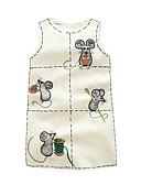 preiswerte Kleider für Mädchen-Mädchen Kleid Baumwolle Polyester Sommer Herbst Ärmellos Zeichentrick Weiß
