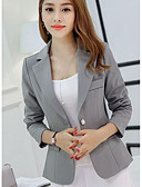 cheap Women's Blazers-Women's Work Going out Blazer - Solid Colored V Neck