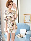 cheap Women's Blouses-Women's Cotton Blouse - Floral Print / Floral Patterns