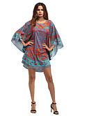 baratos Vestidos de Mulher-Mulheres Feriado / Praia Boho Solto Vestido - Estampado, Floral Assimétrico