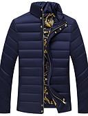 お買い得  メンズジャケット&コート-男性用 お出かけ パッド入り ソリッド