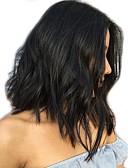 olcso Ruhák-Emberi haj Csipke eleje Paróka Brazil haj Hullámos / Természetes hullám Paróka Bob frizura 130% Középen elválasztott frizura / Természetes hajszálvonal / Afro-amerikai paróka Női Rövid Emberi hajból
