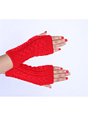 cheap Gloves-Women's Winter Gloves Wrist Length Half Finger Gloves - Solid Colored