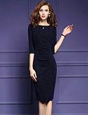 cheap Women's Dresses-Women's Plus Size Going out Cotton Bodycon Dress - Solid Colored Patchwork Ruched