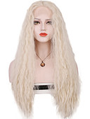 cheap Women's Dresses-Synthetic Lace Front Wig Loose Wave Blonde Synthetic Hair Middle Part Sew in / 100% kanekalon hair Blonde Wig Women's Long Lace Front