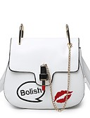 cheap Women's Dresses-Women's Bags PU Crossbody Bag for Event / Party White / Black / Blushing Pink