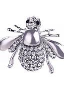 tanie Kwarcowy-Kryształ Broszki - Posrebrzany, Pozłacane Pszczoła, Zwierzę Klasyczny, Modny Broszka Złoty / Srebrny Na Prezent / Codzienny