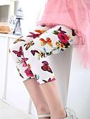 tanie Spodnie i getry-Dzieci Dla dziewczynek Kwiaty Bawełna Spodnie Biały