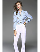 cheap Women's Blouses-Women's Going out Cute Blouse - Solid Colored Floral, Artistic Style Stand