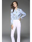 preiswerte Hemd-Damen Solide Blumen - Niedlich Ausgehen Bluse, Ständer Künsterlischer Stil