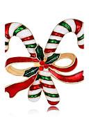 tanie Kwarcowy-Broszki - Pokryte różowym złotem damska, Moda Broszka Biżuteria Tęczowy Na Święta / Nowy Rok