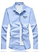 povoljno Muške košulje-Veći konfekcijski brojevi Majica Muškarci Dnevno Rad Pamuk Print
