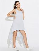 baratos Vestidos de Mulher-Mulheres Para Noite / Bandagem Algodão Solto / balanço Vestido Sólido Acima do Joelho