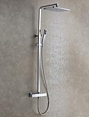 cheap Quartz Watches-Shower Faucet - Contemporary / Modern Style Chrome Wall Mounted Ceramic Valve / Brass