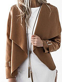 olcso Farmerkabátok-Alkalmi Csuklya Női Kabát - Egyszínű