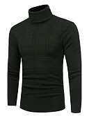 cheap Men's Jackets & Coats-Men's Weekend Long Sleeve Slim Pullover - Solid Colored Turtleneck