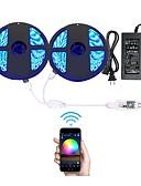 povoljno Muško egzotično rublje-10m Žice sa svjetlima 600 LED diode RGB Daljinsko upravljanje / Cuttable / Zatamnjen 100-240 V 1set / IP65 / Vodootporno / Povezivo / Samoljepljiva / Promjenjive boje