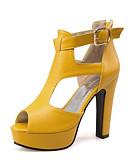Χαμηλού Κόστους Ρούχα χορού της κοιλιάς-Γυναικεία Παπούτσια Συνθετική μικροΐνα PU Καλοκαίρι / Φθινόπωρο Ανατομικό / Πρωτότυπο / Μποτίνι Σανδάλια Κοντόχοντρο Τακούνι Ανοικτή Μύτη