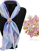 ieftine Chic Colorful Chiffon Scarves-Pentru femei Broșe - Ștras Clasic, Modă Broșă Alb / Alb / Roz Pentru Zilnic / Casual