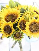 abordables Vestidos de Madrina-Flores Artificiales 7 Rama Europeo Girasoles Flor de Mesa