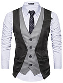 cheap Men's Tees & Tank Tops-Men's Party Wool Tank Top - Color Block Shirt Collar