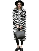 cheap Women's Fur Coats-Women's Work Active Street chic Faux Fur Fur Coat - Striped