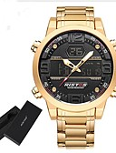 cheap Sport Watches-Men's Sport Watch / Military Watch / Digital Watch Japanese Alarm / Calendar / date / day / Chronograph Stainless Steel Band Charm / Luxury / Vintage Black / Gold / Water Resistant / Water Proof