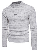 cheap Men's Sweaters & Cardigans-Men's Basic Street chic Long Sleeves Pullover - Solid Colored Round Neck
