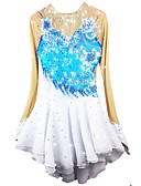 cheap Ice Skating Dresses , Pants & Jackets-Figure Skating Dress Women's / Girls' Ice Skating Dress Pale Blue Spandex Rhinestone / Appliques High Elasticity Performance Skating Wear