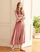 זול שמלות נשים-מקסי אחיד - שמלה גזרת A / סווינג וינטאג' ליציאה בגדי ריקוד נשים