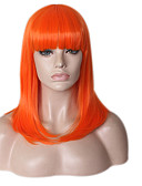 cheap Women's Nightwear-Synthetic Wig Straight / Natural Wave Bob Haircut / With Bangs Synthetic Hair Natural Hairline / For Black Women Blue / Green Wig Women's Medium Length Capless