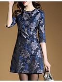 cheap Women's Dresses-Women's Going out Cotton A Line Shift Dress - Jacquard