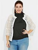 cheap Women's Blazers-Women's Cotton Jacket - Solid Colored, Lace
