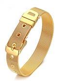 tanie Męskie koszule-Męskie Geometric Shape Bransoletki i łańcuszki na rękę - minimalistyczny styl Bransoletki Złoty / Srebrny Na Codzienny
