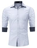 cheap Men's Shirts-Men's Street chic Plus Size Shirt - Solid Colored