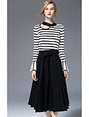 cheap Women's Dresses-Women's Going out Vintage Cotton Maxi A Line Skirts - Solid Colored