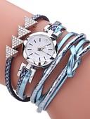 baratos Relógios de Quartzo-Mulheres Bracele Relógio Simulado Diamante Relógio envoltório relógio Quartzo Couro PU Acolchoado Preta / Branco / Azul imitação de diamante Analógico senhoras Casual Boêmio Fashion Elegante - Fúcsia