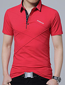 cheap Men's Tees & Tank Tops-Men's Casual Plus Size Cotton Polo - Solid Colored Shirt Collar / Long Sleeve